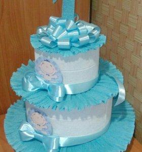 Каркас торта из сладостей или памперсов