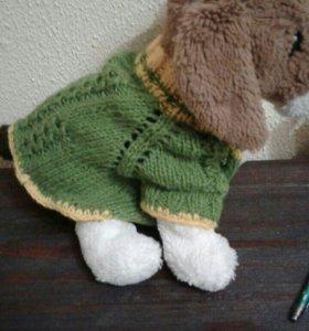 Вязанные кофточки на маленьких собак