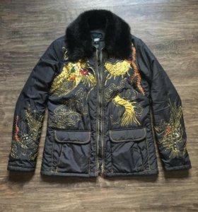 Куртка Custo Испания золотой дракон
