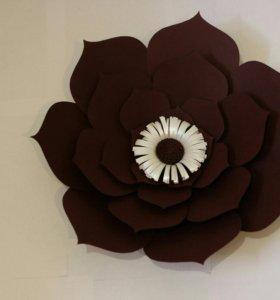 Цветы из дизайнерской бумаги