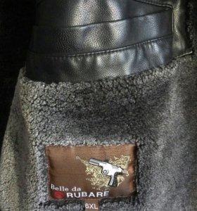Зимняя кожанная куртка 6XL