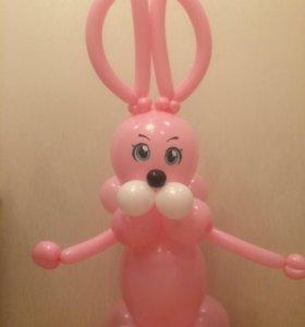 Воздушные шары фигура зайчика