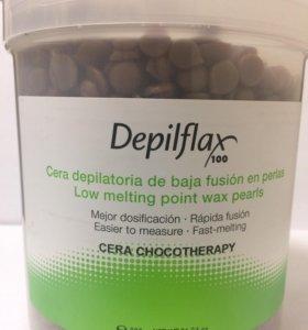 Воск горячий DepilFlax в гранулах Шоколад 600гр.