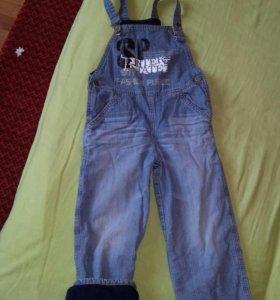Комбенизон джинсовый на флисе