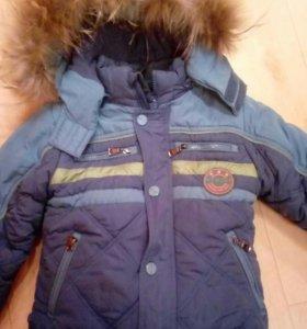 Зимний костюм на мальчика 3,4года