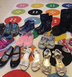 Обувь разная для девочки 32-33 размер