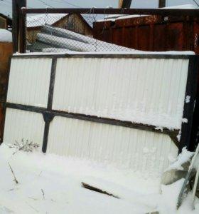 Ворота гаражные новые