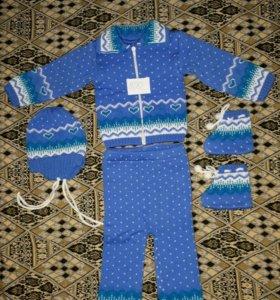 Детские вещи на мальчика (вязаные костюмы и др.)