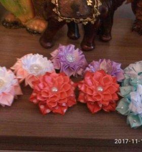 Изготовление топиарий, заколок и резинок с цветами