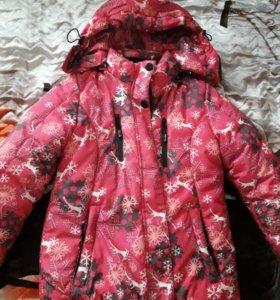 Куртка зимняя(штаны в подарок)