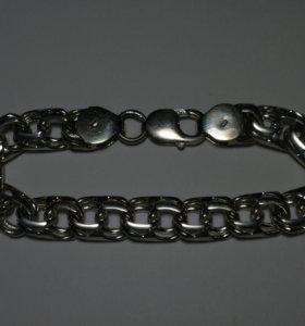 Браслет серебряный Бисмарк, серебро.