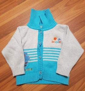 Кофта свитер на мальчика,3-9 мес,обмен