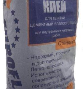 Клей плиточный для керамогранита 25 кг. euroflex