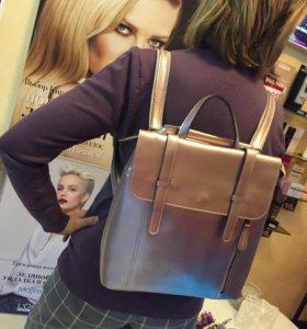 Рюкзак-сумка трансформер Натуральная кожа.Новый
