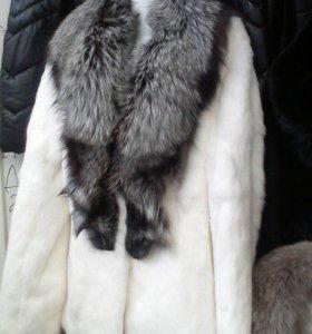 Шубка кролик с чернобуркой, распродажа!!!