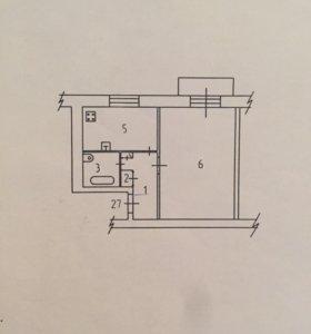 Квартира, 1 комната, 44.9 м²