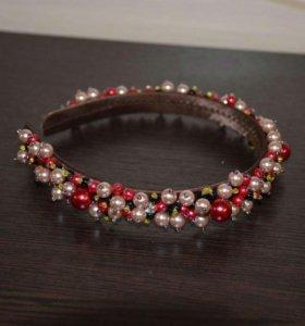 Ободок Dolce&Gabbana. РУЧНАЯ РАБОТА
