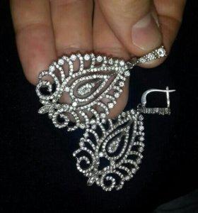 сережки серебро