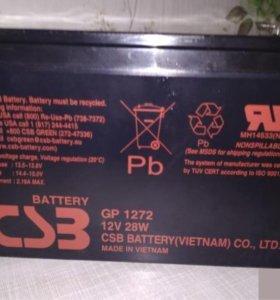 Аккумуляторная батарея для ИБП 12V 7.2A новый