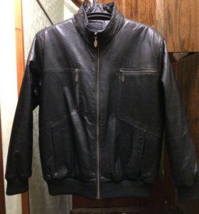 Кожаная мужская куртка новая