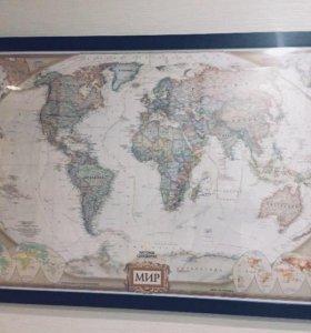 Картина «Карта мира»