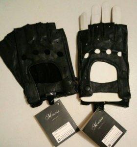 Перчатки мужские автомобильные из натуральной кожи