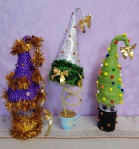 Новогодние топиарии- ёлочки