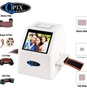 Сканер для фотоплёнки 35 мм, ЖК-дисплей 2,4 дюйма