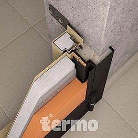 Входная дверь с терморазрывом три контура