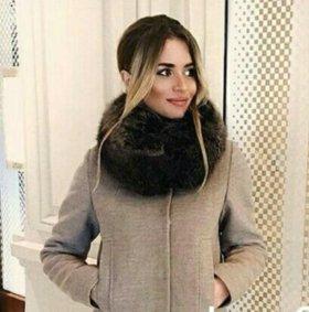 Зимнее пальто прямое с бирками