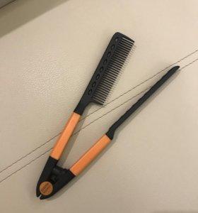 Двойная расческа для выпрямления волос