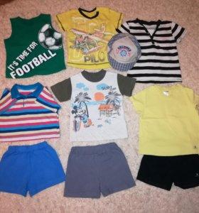 Пакет летней одежды для мальчика р.86-92