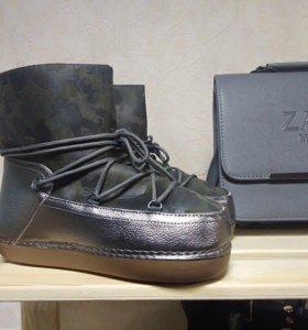 Ботинки луноходы новые