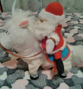 Дед Мороз на лошади