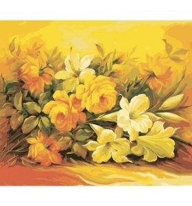 Картина по номерам Желтые цветы