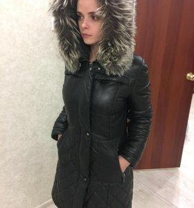 Куртка кожаная на сентипоне (зима).