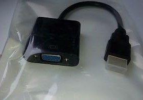 Переходник (адаптер) с HDMI на VGA (новый)