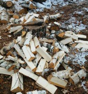 Колотые дрова из березы