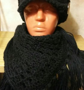 Шапочка и шарф, ручная работа 😊