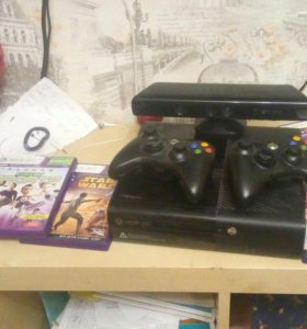 Xbox 360 500g +kinect+2 геймпада