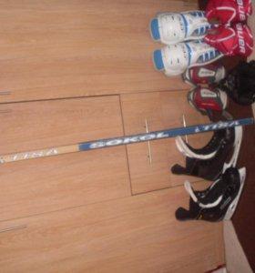 Хоккейная форма+Коньки Все Профессиональное