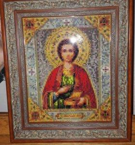 Икона Св.Пантилеймона мозайкой