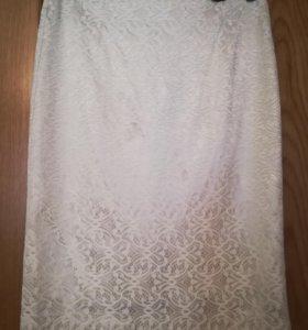 Нарядная кружевная юбка 44-46