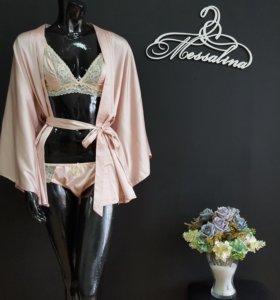 Шелковый халат и комплект