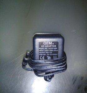 Блок питания 9 вольт 1 ампер