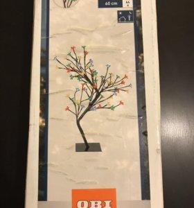 """Световая фигура """"Дерево цветущее"""", разноцветная"""