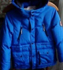 Зимняя куртка пух перо р.152