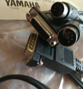 Фирменный миди адаптер Yamaha для связи с ПК