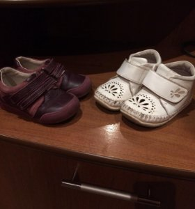 Кожаные мокасины и ботиночки