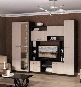 Стенка для гостиной новая «Флора Венге»